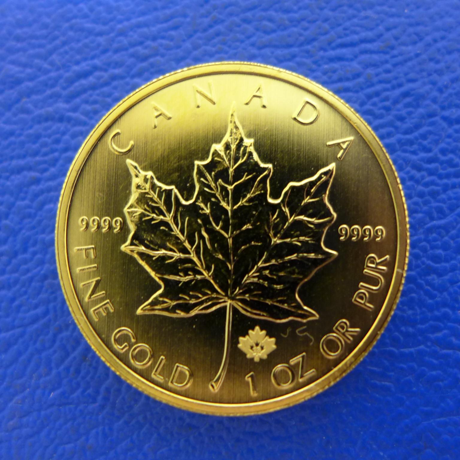 meaple leaf münzen