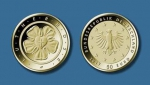 BRD 50 EURO 2017 Lutherrose Gold Buchstabe F