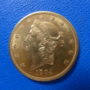 USA 20 Dollar 1904-S Head Gold