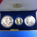 USA Fifa World-Cup Set 1994 Gold und Silber in Polierte Platte