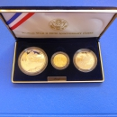 USA Three Coin Set 1995 World War II Gold und Silber in Polierte Platte