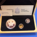 Maple Leaf 3 M�nzen - Set 1989 PLATIN-GOLD-SILBER in PP