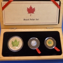 Maple Leaf 3 M�nzen - Set Royal Polar Set 2000 PLATIN-GOLD-SILBER in Farbe