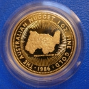 "Australien 1 Oz 1986 Nugget ""Welcome Stranger"" Gold in PROOF selten"