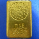 Goldbarren des U.S. Assay Office New York 27,18 Oz Feingold RARITÄT!