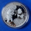 1 Oz 2017 Panda Showpanda World Money Fair in Berlin Silber in Kapsel + Etui in PP