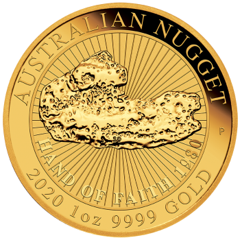 Australien 1 Oz Nugget 2020 Hand of Faith Gold
