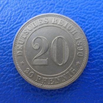 Kaiserreich 20 Pfennig 1890 A Jaeger 14 Tolle Erhaltungkaufen Bei