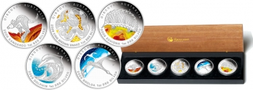 Australien Discovery Set 2009 The dreaming Series 5 x 1 Oz Silber in Farbe