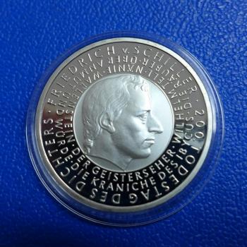 Brd 10 Euro 2005 Friedrich Schiller In Ppkaufen Bei Münzen Müller