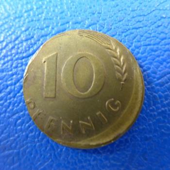 Brd 10 Pfennig 1969 Fehlprägung Schrötlingsfehlerkaufen Bei Münzen