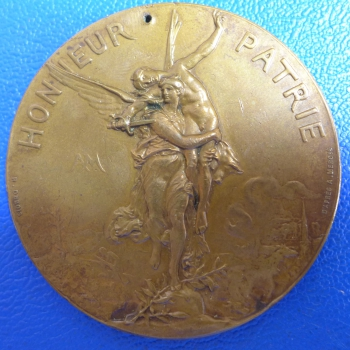 Frankreich orig. Medaille 1886 Union Nationale des Societes de Tir de France