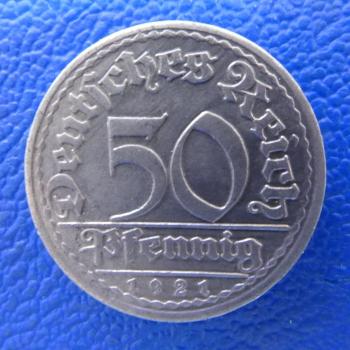Weimar 50 Pfennig 1921 A Aluminium J 301kaufen Bei Münzen Müller