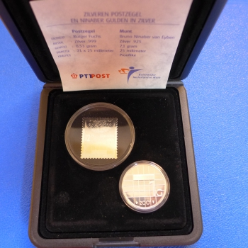 Niederlande 1 Gulden 2001 Satz Mit Briefmarke Aus Silber In Ppkaufen