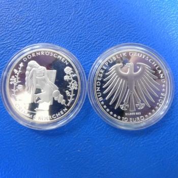 Brd 10 Euro 2015 Dornröschen Grimms Märchen In Ppkaufen Bei Münzen
