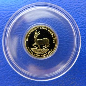 Kleinste Goldmünze D Welt Liberia 25 Springbock Investment Coin