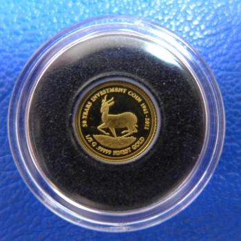 Kleinste Goldmünze D Welt Malawi 20 Kwacha 50 Jahre Krügerrand 05