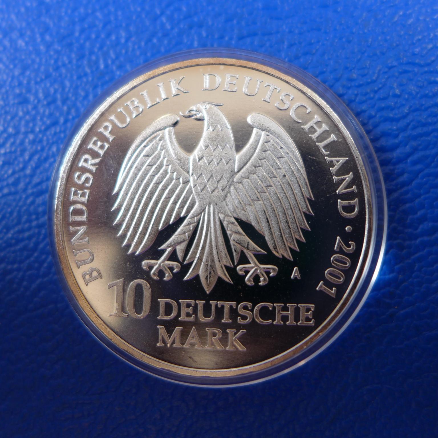 Brd 10 Dm Gedenkmünzen 1998 2001 925er Silberkaufen Bei Münzen Müller