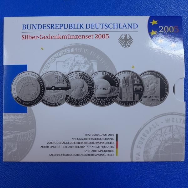 10 Euro Silber Gedenkmünzensatz 2005 In Polierte Platte